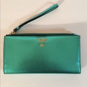 Jewel Metallic Wristlet Wallet